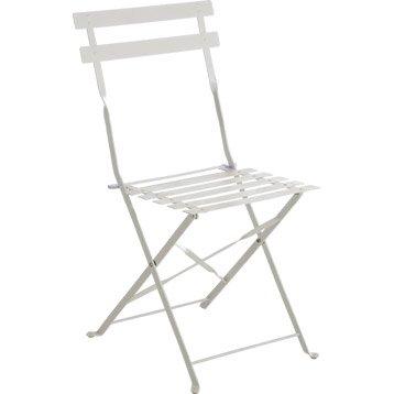 Chaise de jardin en acier Flore blanc