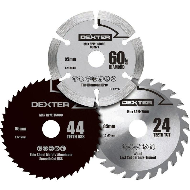 Lame Coupe Multiusage Dexter Power Pour Mini Scie Circulaire
