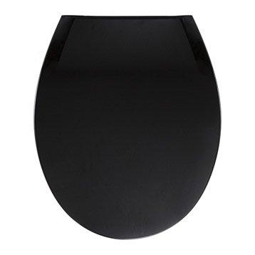 abattant wc sensea uno noir noir n 0. Black Bedroom Furniture Sets. Home Design Ideas