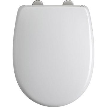 Abattant frein de chute déclipsable blanc plastique thermodur, DUBOURGEL ea867418475c