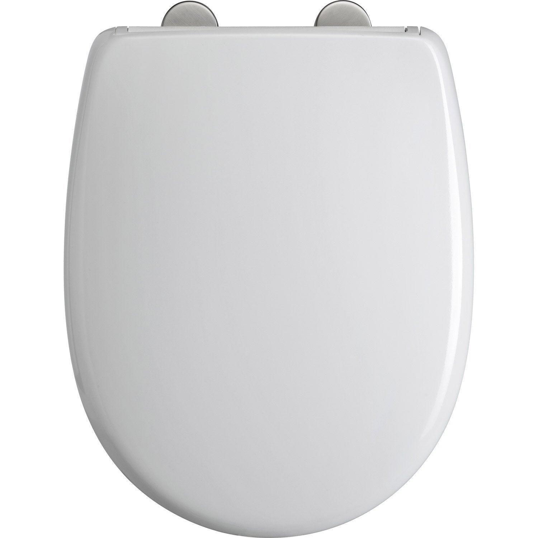 abattant frein de chute dclipsable blanc plastique thermodur dubourgel - Lunette Wc Leroy Merlin