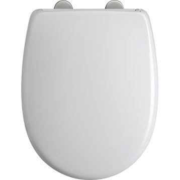 Abattant frein de chute déclipsable blanc plastique thermodur, DUBOURGEL