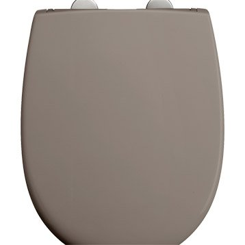 Abattant taupe, DUBOURGEL Push'n clean