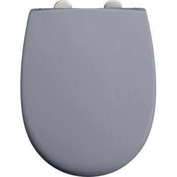 Abattant frein de chute déclipsable gris plastique thermodur, DUBOURGEL
