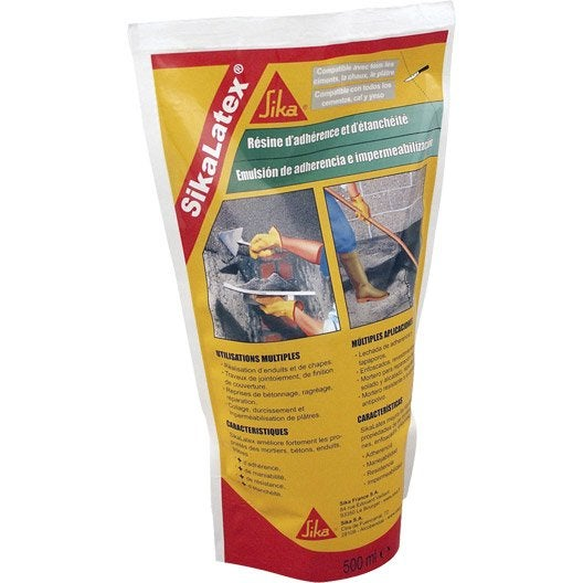 R sine d 39 adh rence concentr e pour mortier sika sikalatex for Sika peinture piscine