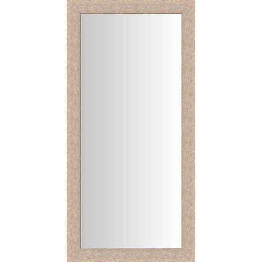 Miroir dublin ch ne clair blanchi 60x140 cm leroy merlin - Miroir salon leroy merlin ...