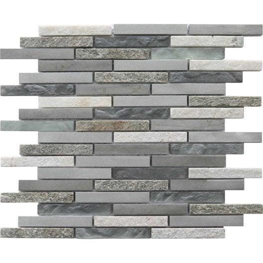 mosa que mur ultra barette alu gris et blanc leroy merlin. Black Bedroom Furniture Sets. Home Design Ideas