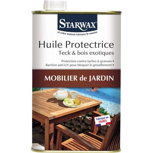 Huile Protectrice Teck Starwax 1 L | Leroy Merlin