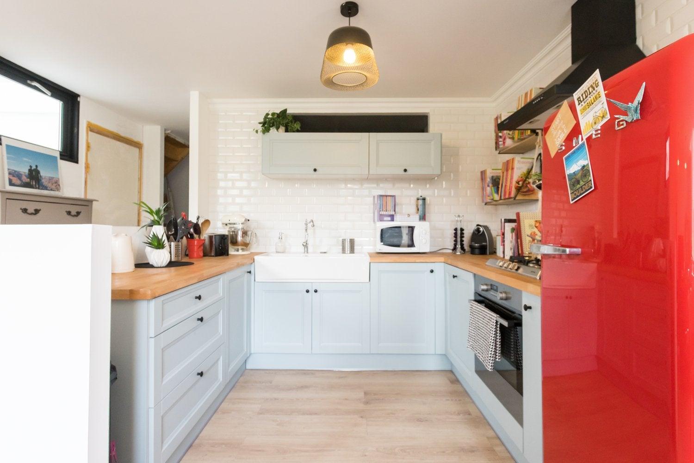 La cuisine d39annie avec une touche de rouge leroy merlin for Cuisine d annie