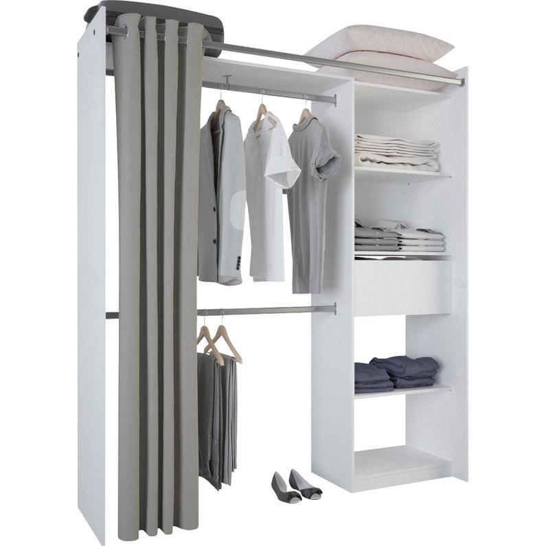 kit dressing blanc new star x x cm x p de la joue50 leroy merlin. Black Bedroom Furniture Sets. Home Design Ideas