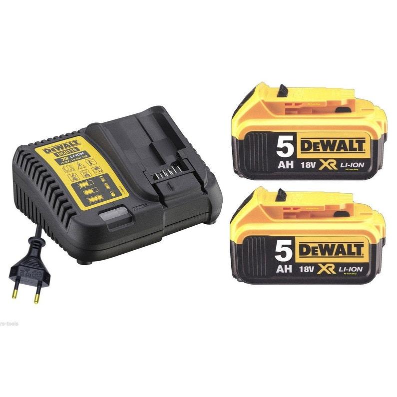 Pack Batterie Dewalt Li Ion 18 V 5 Ah Dcb115p2