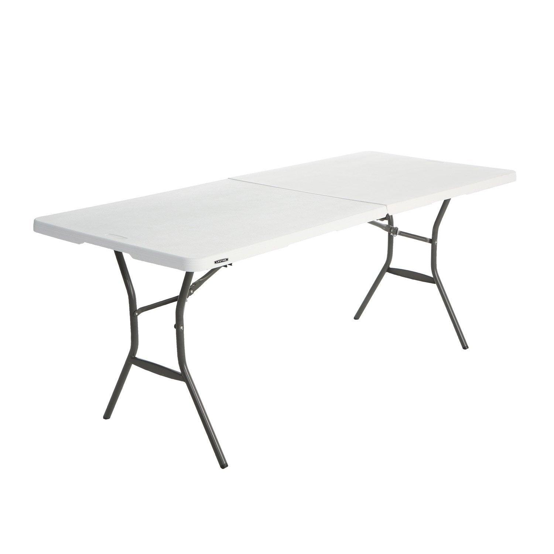 Lifetime repas de Table rectangulaire 6 jardin blanc personnes de ybvYgf76