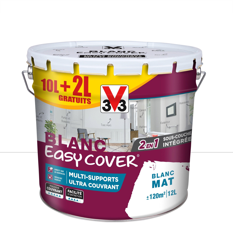 Peinture V33 Multisupport Easy Cover Blanc Mat 12 L