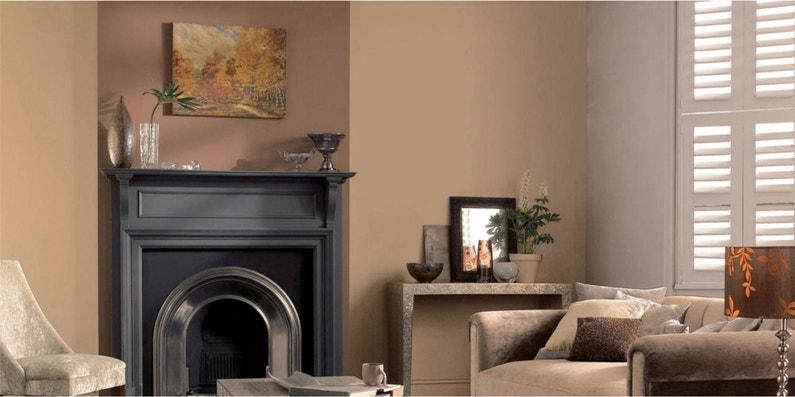 Peinture, mur DULUX VALENTINE, chocolat, satiné, 0.5 l