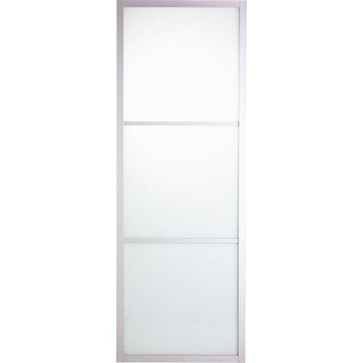 Porte coulissante verre feuillet aspen artens 204 x 83 cm leroy merlin - Porte coulissante en verre chez leroy merlin ...