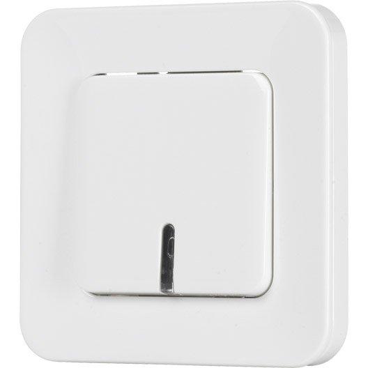 interrupteur va et vient t moin lumineux encastrable blanc lexman city leroy merlin. Black Bedroom Furniture Sets. Home Design Ideas