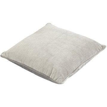 Coussin Dubbo, gris galet n°3, 40 x 40 cm