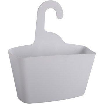 Panier de bain / douche Play à suspendre au combiné, blanc blanc n°0