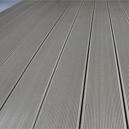 Planche primo en composite gris l 300 x l 14 5 cm x ep 21 mm leroy merlin - Planche en composite prix ...