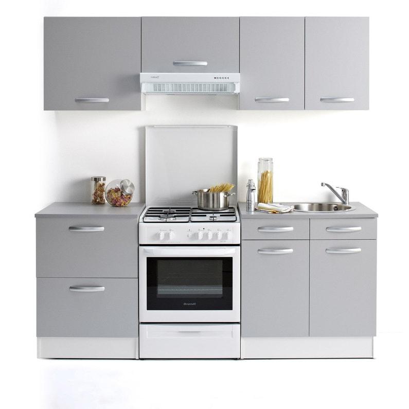 Meuble De Cuisine Bas 1 Porte Gris Aluminium H86x L60x P60cm