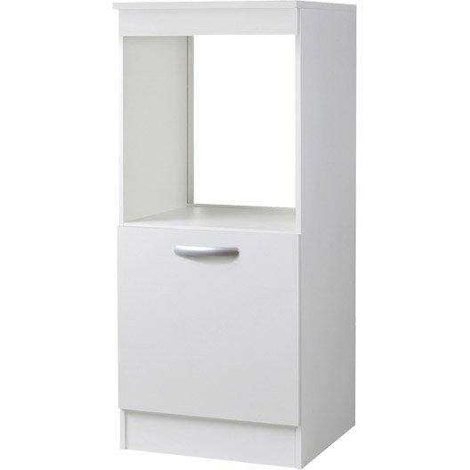 meuble de cuisine 1 2 colonne four 1 porte blanc h140 4. Black Bedroom Furniture Sets. Home Design Ideas