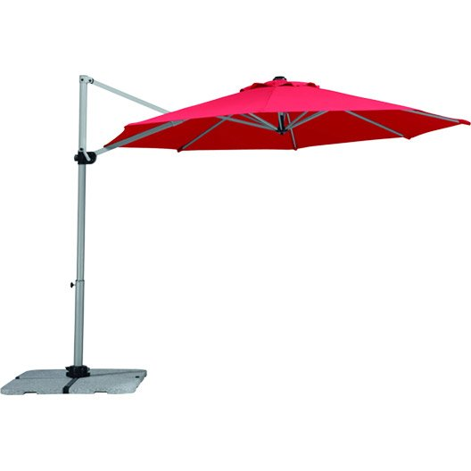 parasol excentr samos rouge octogonal x cm. Black Bedroom Furniture Sets. Home Design Ideas