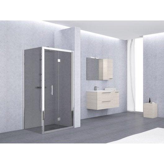 Porte de douche pliante 84 90 cm profil chrom elyt - Porte douche pliante 90 ...