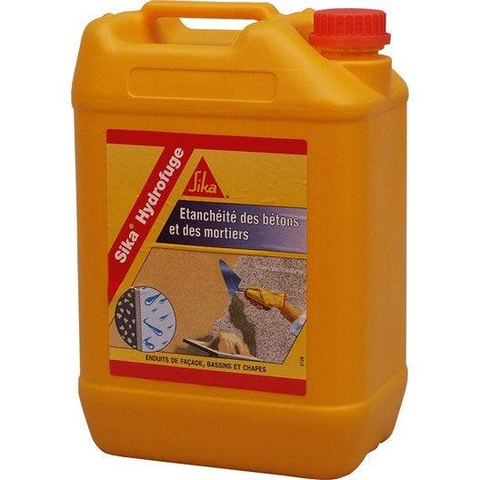 Hydrofuge pour mortier sika 5 l blanc leroy merlin for Produit pour carrelage exterieur