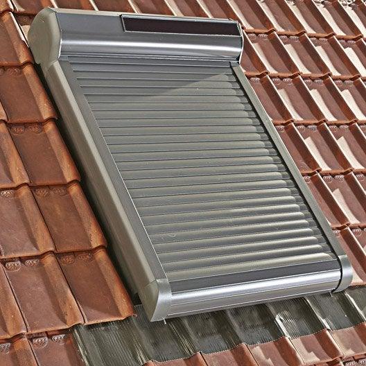 volet fen tre de toit roulant nergie solaire artens leroy merlin. Black Bedroom Furniture Sets. Home Design Ideas