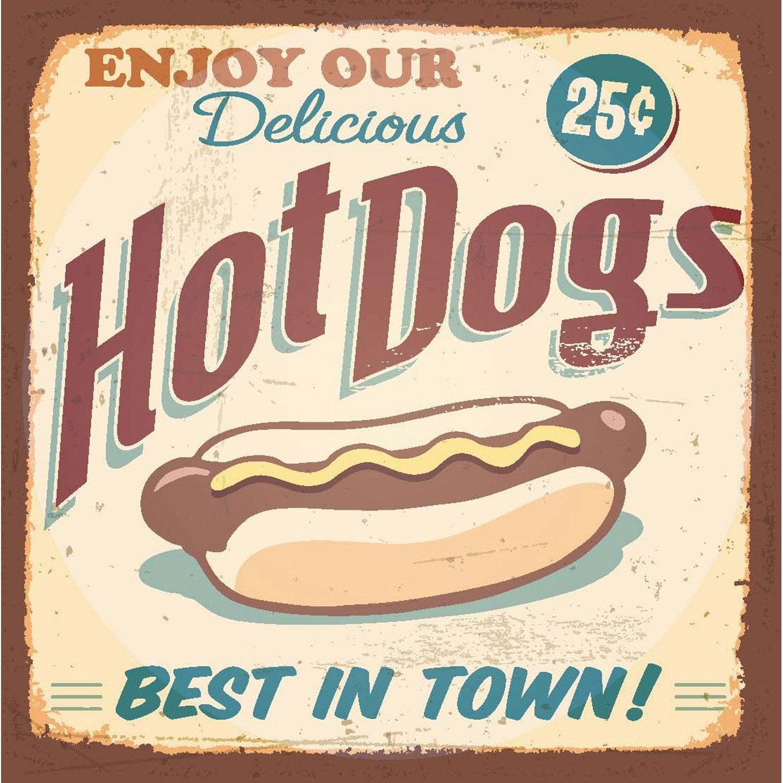 Affiche Hot dogs l.14 x H.14 cm