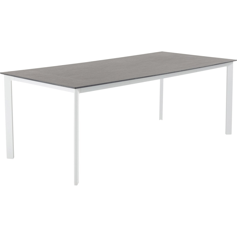 table de jardin naterial marbella rectangulaire gris 8 personnes leroy merlin. Black Bedroom Furniture Sets. Home Design Ideas