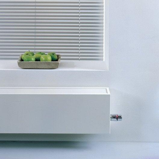 Radiateur chauffage central basse temp rature mini15 blanc for Radiateur eau chaude basse temperature