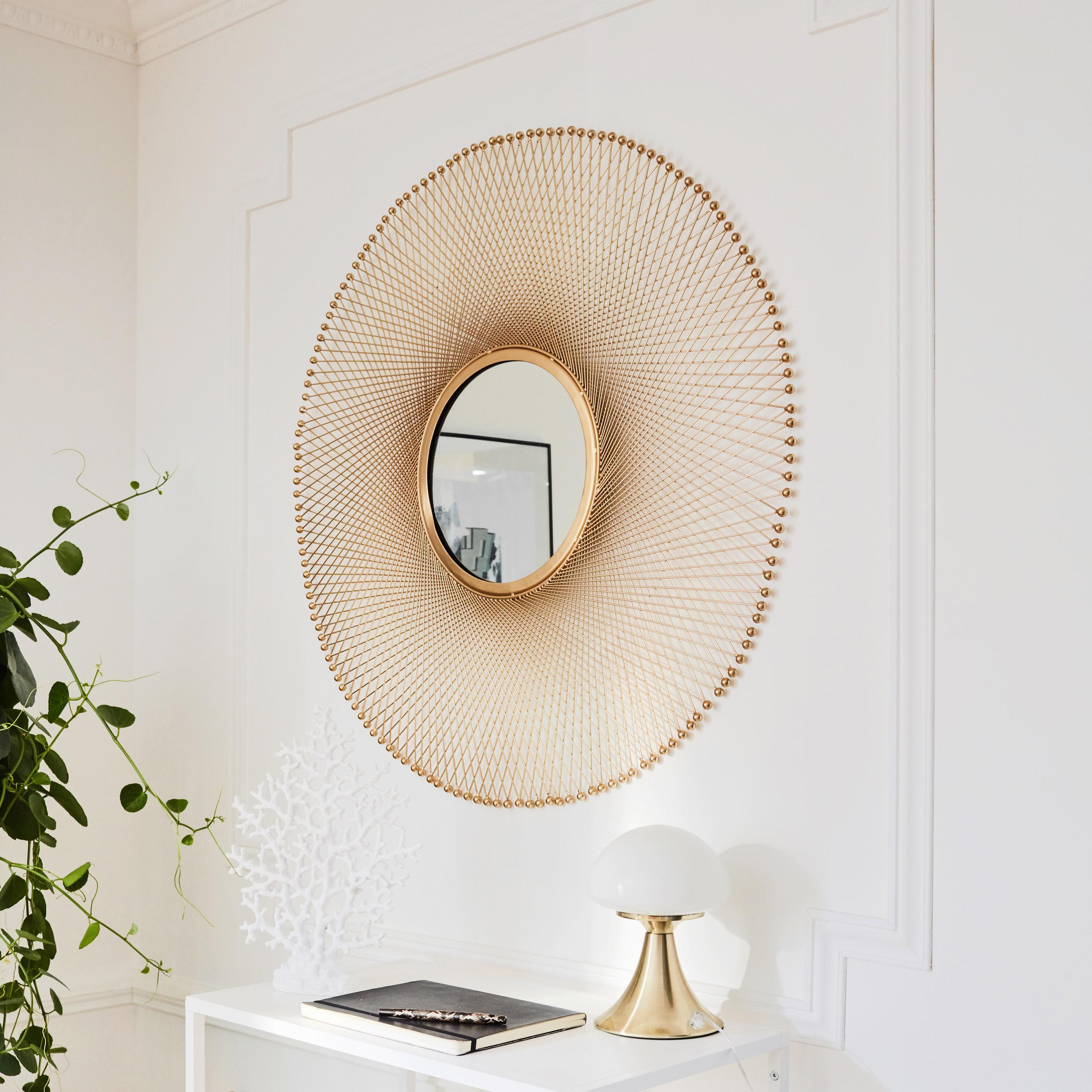 Miroir chic doré 85,5cm