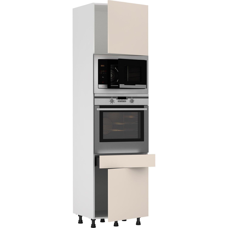 Colonne de cuisine Sydney cachemire 100 portes et 10 tiroir H.100105 x l.10 x  p.10 cm