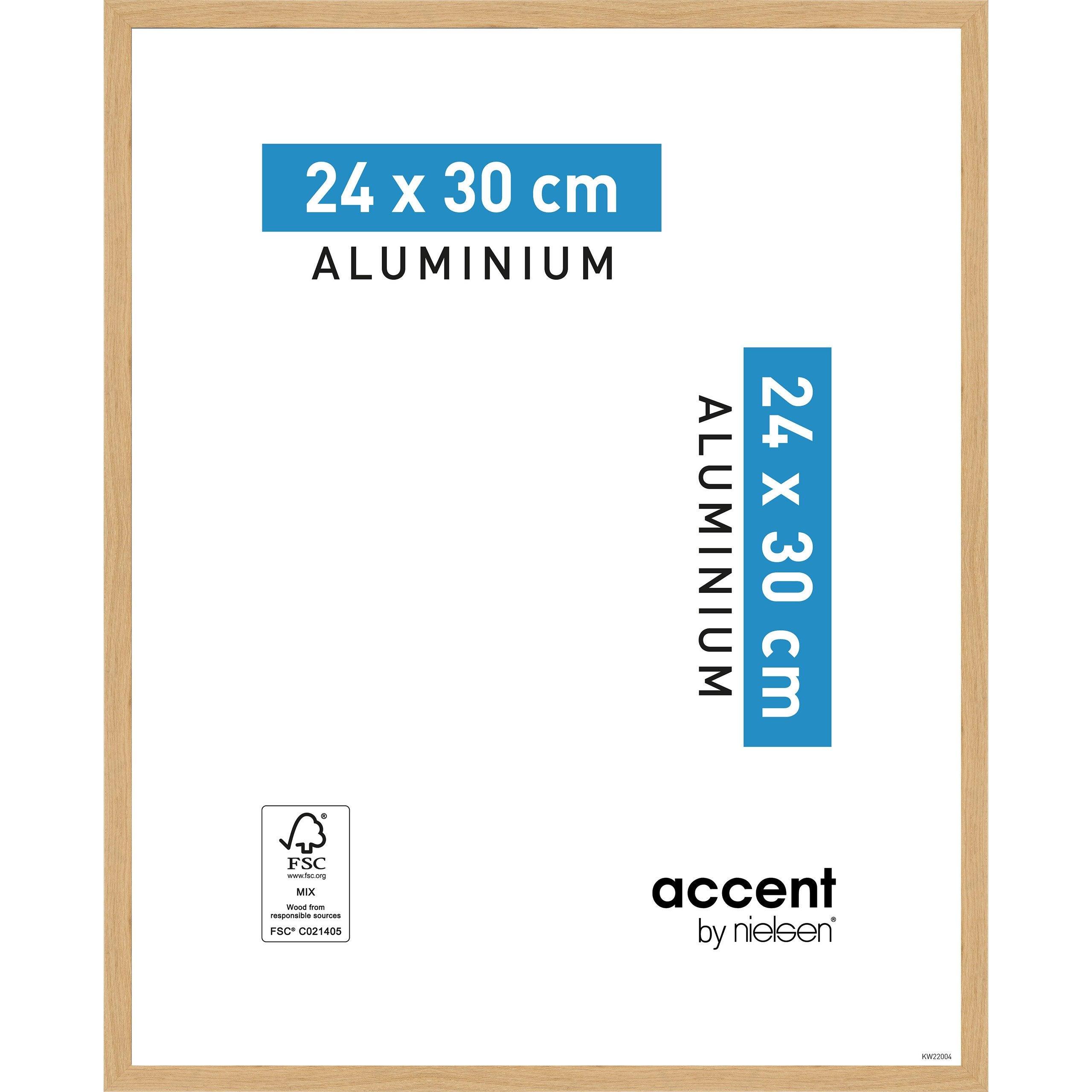 Cadre Accent, 24 x 30 cm, chêne clair