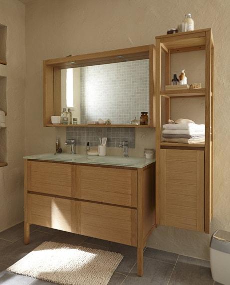 Ensemble de meubles de salle de bains en chêne naturel