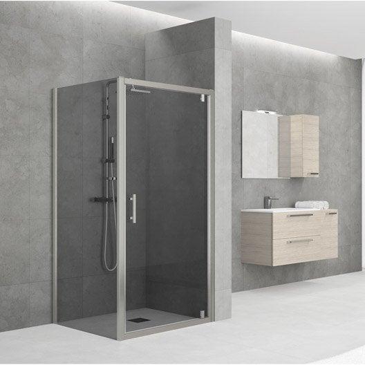 porte de douche pivotante 78 84 cm profil chrom elyt leroy merlin. Black Bedroom Furniture Sets. Home Design Ideas