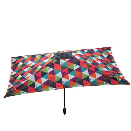parasol droit polygone multicolore rectangulaire x cm leroy merlin. Black Bedroom Furniture Sets. Home Design Ideas