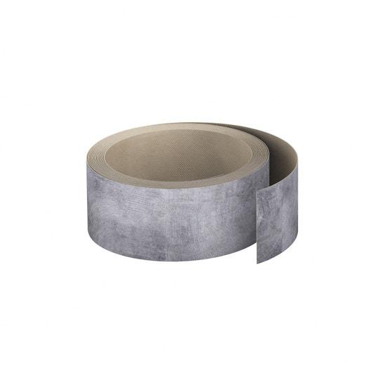 chant plan travail stratifi effet bois debout gris mat l 4 5 cm ep leroy merlin. Black Bedroom Furniture Sets. Home Design Ideas