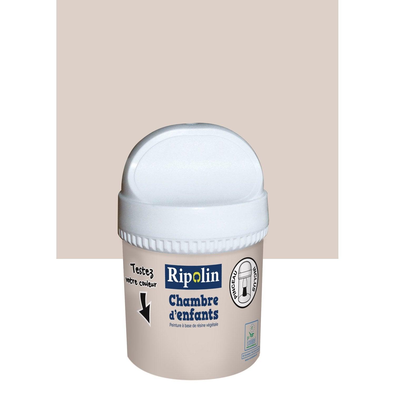 Testeur peinture beige crème satin RIPOLIN Chambre enfants 0.075 l ...
