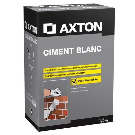 ciment blanc axton 1 5 kg leroy merlin. Black Bedroom Furniture Sets. Home Design Ideas