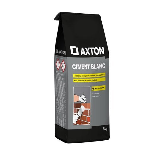 Ciment blanc axton 5 kg leroy merlin - Enduit ciment blanc exterieur ...