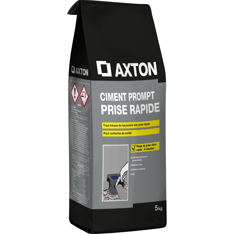 Ciment Prompt Poudre Gris AXTON, 5 Kg