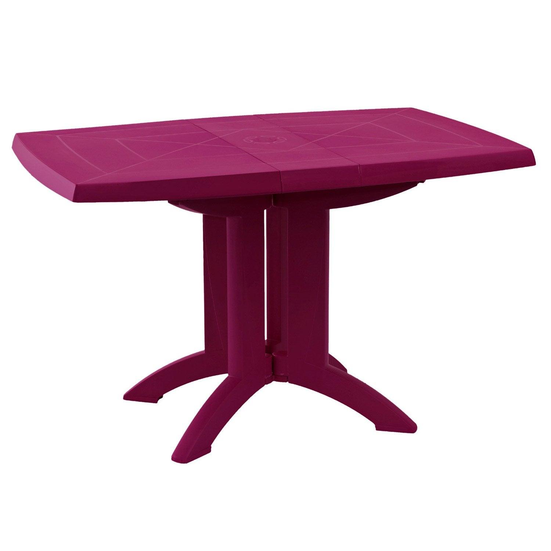 Table de jardin GROSFILLEX Vega rectangulaire framboise personnes ...
