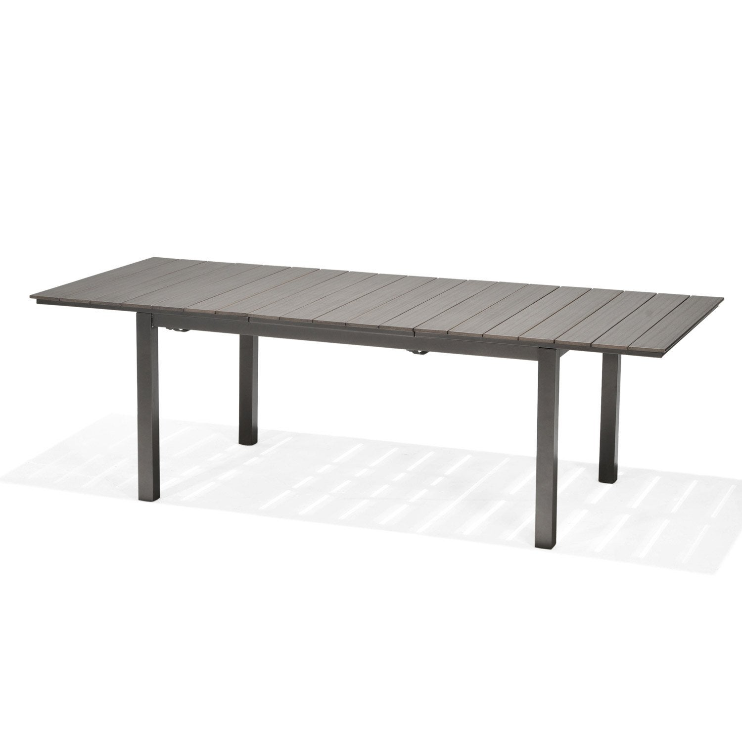 table de jardin salerno rectangulaire gris 4 6 personnes leroy merlin. Black Bedroom Furniture Sets. Home Design Ideas