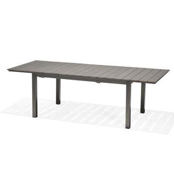 Table de jardin Salerno rectangulaire gris 4/6 personnes