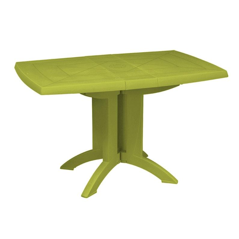 Table de jardin GROSFILLEX Vega rectangulaire vert personnes