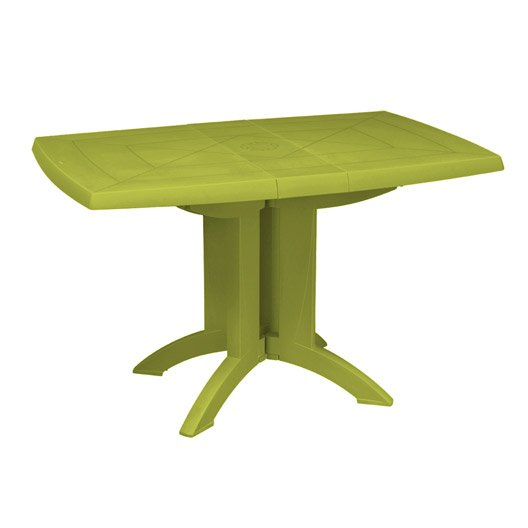 table de jardin grosfillex vega rectangulaire vert 4 personnes leroy merlin. Black Bedroom Furniture Sets. Home Design Ideas