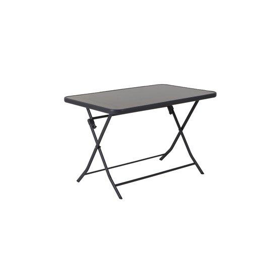 Table de jardin aluminium bois r sine au meilleur prix for Table de jardin prix