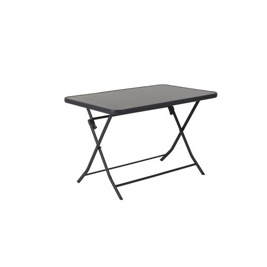 table de jardin naterial denver rectangulaire gris 2 personnes